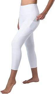 Squat Proof Side Phone Pocket Yoga Capris - High Waist Cropped Leggings