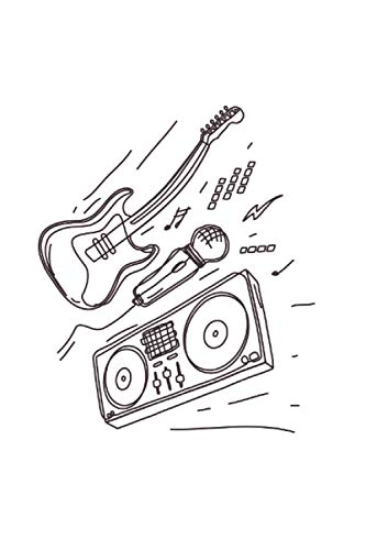 Micrófono: Din A5xx guitarra cuaderno altavoz de regalo con 120 páginas
