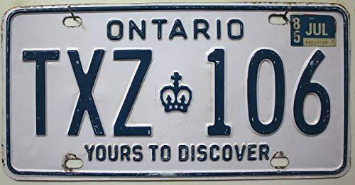 Ontario Nummernschild - Kanada Auto-Kennzeichen - Metall Schild aus Nordamerika - Canada License Plate