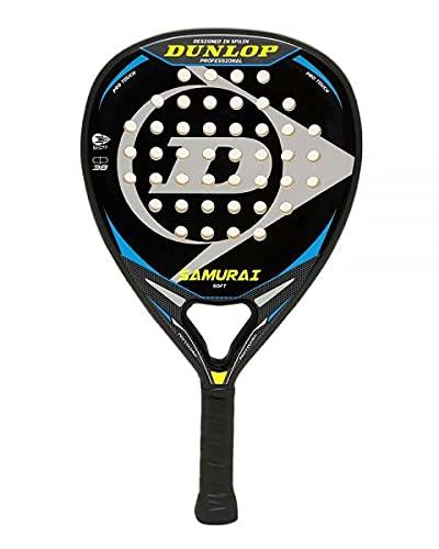 Pala de Padel Dunlop Samurai + Overgrip / Mejores Palas de Padel para Hombre y Mujer / Raqueta de pádel polivalente para Jugadores de Padel de Todos los Niveles