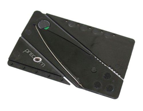 Kreditkarten-Messer schwarz Faltmesser Klappmesser Camping-Messer Taschenmesser Messer Marke PRECORN