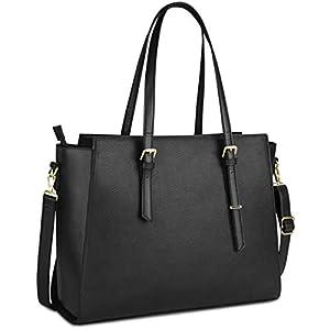 41okh9kFSbL. SS300  - Bolso Mujer Bolso Universidad Mujer Bolso para Portatil 15.6 Pulgadas Grande Impermeable Bolso Shopper Mujer Cuero PU…