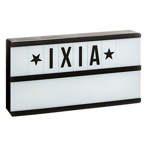 D,casa - Caja de luz Lightbox Negro con 2 líneas Letras Incluido: Amazon.es: Hogar