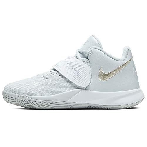 Nike Boys Big Kids Kyrie Flytrap III Basketball Shoes (Pure Platinum/White/Metallic Silver, Numeric_6)