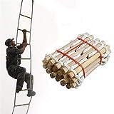 GJNWRQCY Escalera de Cuerda de Escape de Incendios, Escalera de Escape Colgante de Emergencia...