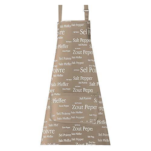 Winkler - Tablier de cuisine à poche > – 80x85 cm – Protection 100% coton - Blouse adulte lavable – Sangle ajustable
