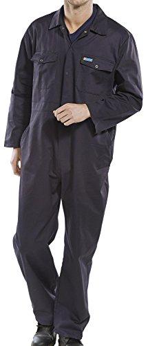 Dealer Workwear Overall Blaumann, Gummizug an der Seite und Druckknopfverschluss, Gr. L, Marineblau, 50