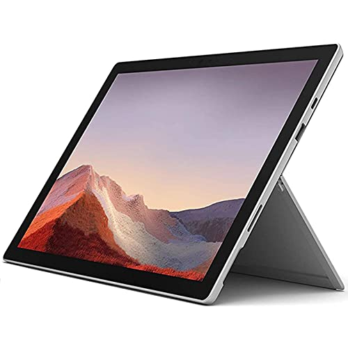 """New Microsoft Surface Pro 7 Bundle: 10th Gen Intel Core i5-1035G4, 8GB RAM, 256GB SSD (Latest Model) – Platinum with Black Type Cover and Surface Pen, 12.3"""" Touch-Screen Pixelsense Display"""