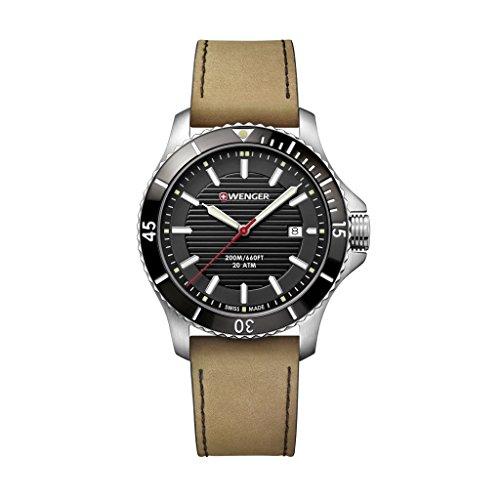 WENGER Reloj Analogico para Unisex de Cuarzo con Correa en Acero Inoxidable 01.0641.125