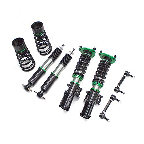 Rev9 R9-HS2-053 compatible with Ford Mustang 2015-21 Hyper-Street II Coilover Kit w/ 32-Way Damping Force Adjustment Lowering Kit, 32 Damping Level Adjustment, Ride Height Adjustable