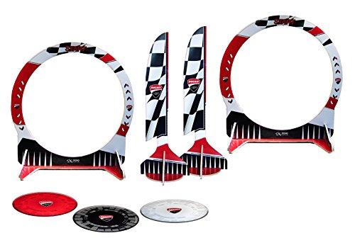 Ducati Corse dcrctrack Circuit FPV bestehend aus Gate, Flags und Starting Pad