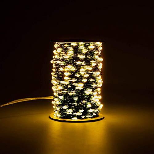 AOIWE - Guirnalda de luces LED de 100 m, color verde