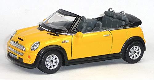 bester Test von mini cooper s cabrio Mini Cooper S Cabrio Cabrio Sammler Modell Ca.  1:28 gelb