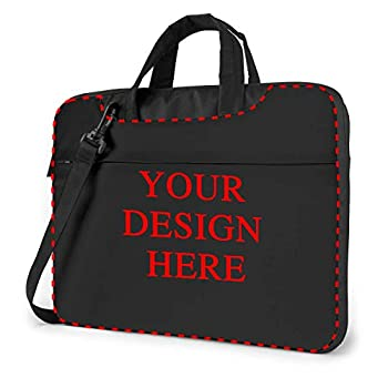 Custom Laptop Shoulder Bag Carrying Case Personalized Add Your Own Text Image Business Briefcase Protective Bag with Handle for Ultrabook MacBook Asus Samsung Notebook  14 inch