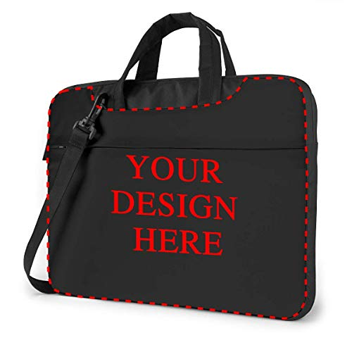 Custom Laptop Shoulder Bag Carrying Case Personalized, Add Your Own Text Image, Business Briefcase Protective Bag with Handle for Ultrabook, MacBook, Asus, Samsung, Notebook (13 inch)