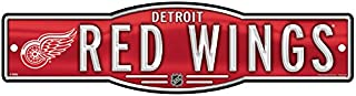 NHL Detroit Red Wings 4''x17'' inch Plastic Street Sign