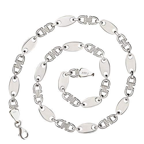 925 Silberkette: Plattenkette Silber 10mm 60cm - PLK-10-60