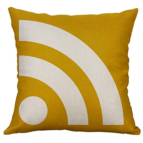 Federa per cuscino, vari stili, elegante motivo geometrico irregolare, per ufficio, famiglia, caffè, biblioteca, 60 x 60 cm, a, 60 x 60 cm