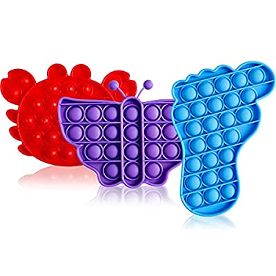 Yuqre Cheap Push Pop Bubble Fidget Toys 3 Pack, Friendly Silicone Materials, Great for Kids and Adults