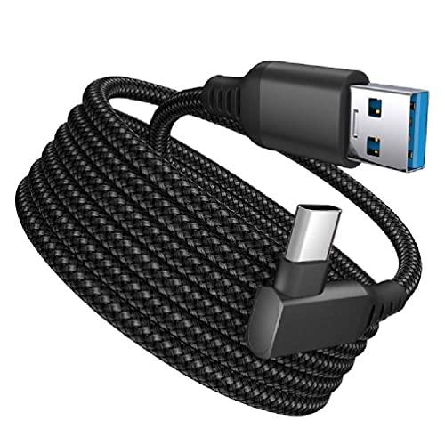 BullBallBoll Para Oculus Quest 2 Tipo-C Link USB-C Vapor VR Cable de datos 5m/16ft Transferencia Link Cable Carga rápida línea de datos