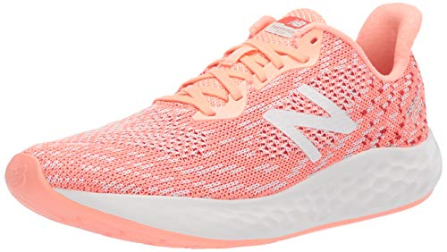 New Balance Women's Rise V2 Fresh Foam Running Shoe, Ginger Pink/SEA Salt/Toro RED, 8.5 B US