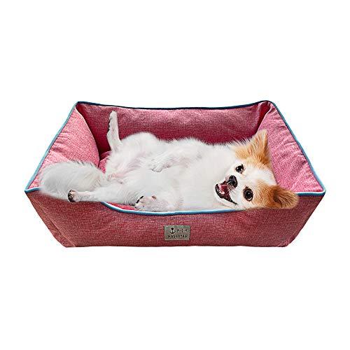 DZL- Cama de Perros y Mascotas Básica Desmontable y Extraíble Regalo Manta Perro Camas para Perros Gatos Alfombra para Mascotas (XXL-82 * 102 * 25CM, Rosa)