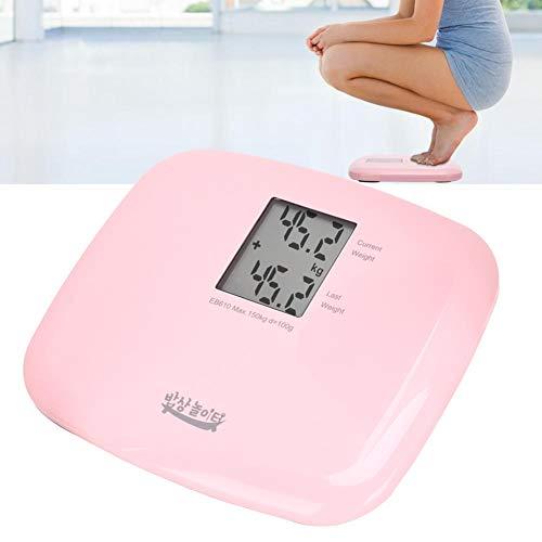 Escala de peso portátil, 150 kg Escala de pantalla LCD de cuerpo de peso digital eléctrico inteligente Escala de alta precisión