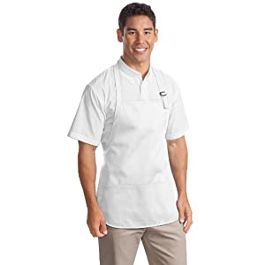 Port Authority novelty-and-special-use Medium Length Apron with OSFA White