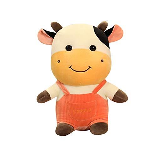 MRULIC Kalb PlüSchtiere PlüSchtierpuppe Kuscheltiere Puppe Spielzeug Kreative Spielzeuggeschenke Weihnachten Geburtstag Geschenke Kinder Geschenke(Orange)