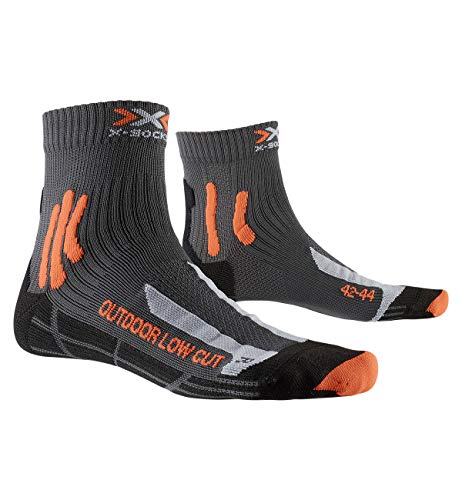 X-Socks Herren Socken Strümpfe TREK OUTDOOR LOW CUT SOCKS trekkingsocken wandersocken herren damen, anthracite/orange, 42/44, XS-TS16S19U