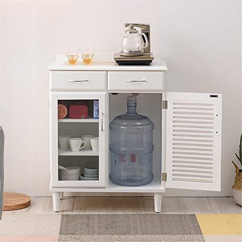 Multifunktionale Anrichte Lagerschrank Holz Accent Cabinet Entryway Langgut-Lagereingangstisch Wohn-Esszimmer Buffetschrank Konsolentisch Wohnzimmer Eingang ( Color : White , Size : 87.5x67x35cm )
