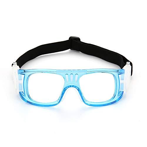 FHJNSEDTGYH Männer und Frauen Anti-Fog im Freien mit Myopie Fußball Brillenfassungen Basketball Sportbrillen können ausgestattet Werden (Color : Blue)