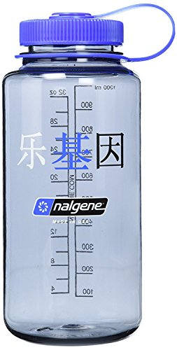 Nalgene - Botella de agua en Tritan sin BPA, boca ancha (946ml) - SG_B005ORAVE4_US, 16 oz, Plateado