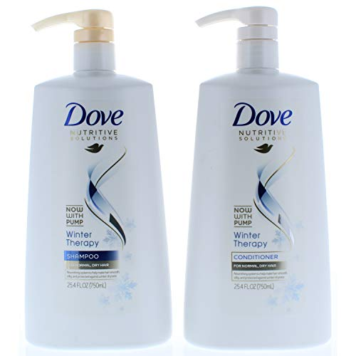 Dove Nutritive Solutions Winter Therapy, Shampoo and Conditioner Duo Set, 25.4 Fl. Oz Pump Bottles
