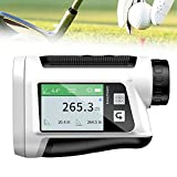 EnweMahi USB Charging Golf Range Finder,1000M Hunting Laser Range Finder,8 Measurement Modes,6X Magnification/Side Screen Touch/Voice Broadcast/Golf Distance Compensation,800M