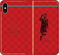 【全機種対応】 サッカー iPhone Xperia Galaxy 楽天Mobile UQ Yモバ Android Android シルエット スマホケース 手帳型 カバー(落書き:リヴァプール:11番_01) 07 iPhone8