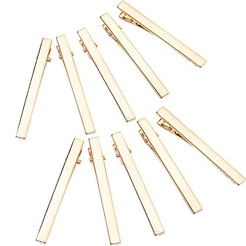 ヘアクリップ 55mm クリップピン ヘアピン 髪留め 金具 ゴールド ヘアアクセサリー DIY 手作り 手芸用品 ハンドメイド アクセサリー 30個入り