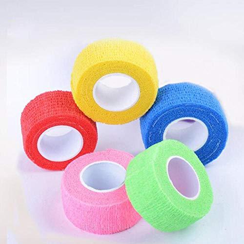 10 Rolls 2.5cmx4.5m Zelfklevende Bandage Elastische Stretch Wrap Tape Hand Pols Vinger Duim Sport Veiligheid