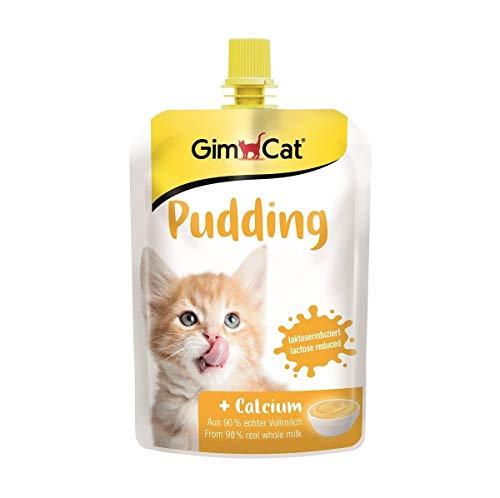 GimCat Pudding mit Calcium - Katzensnack aus echter laktosereduzierter Vollmilch für gesunde Knochen - 1 Beutel (1 x 150 g)