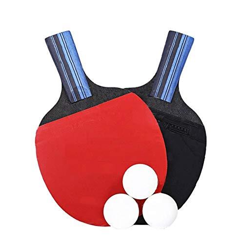 NOBRAND Zonggan Tabla Raqueta de Tenis Set, Ping-Pong Estudiante Equipo de Deportes Ping Pong Paddle Raqueta con el Bolso de 3 Bolas Avanzada Inicio Interiores o Exteriores de Juego