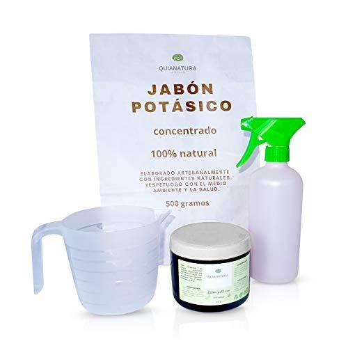 Quianatura Jabón Potásico Concentrado para 30 litros, insecticida Natural, Tratamiento ecológico y Biodegradable para Tus Plantas