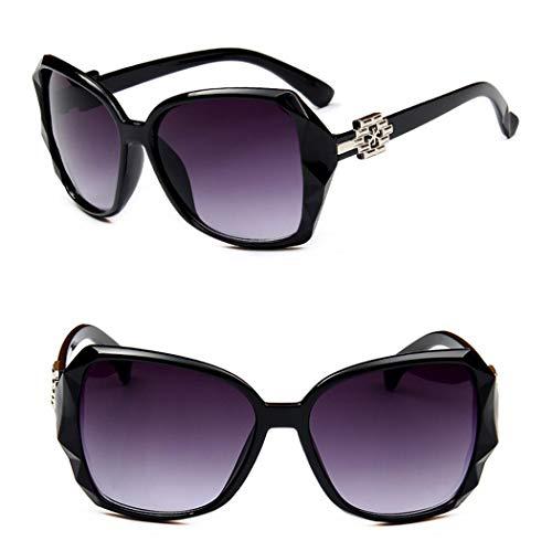 Occhiali da sole da donna con montatura grande anti-UV