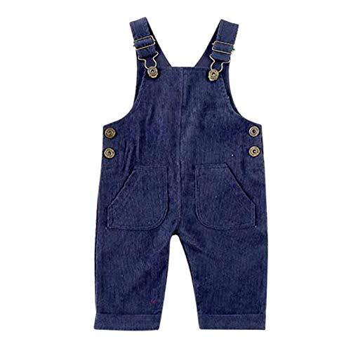 Speaklaus Kleinkind Baby Girl Boy Cord Insgesamt solide Latzhose Hosenträgerhose mit 2 Taschenboden Kleidung