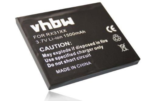 vhbw Batería Compatible con HP IPAQ HX20xx-Serie HX2000 móvil, Smartphone teléfono (1500mAh, 3,7V, Li-Ion)
