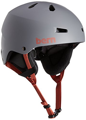 Bern Herren Snowboard-Helm Team Macon mit Cordova-Ohrenschützern, Mattes Grau, klein