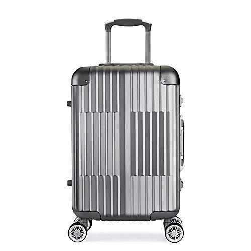 Ang-xj Fashion aluminum alloy suitcase,aluminum frame trolley case,customized universal wheel suitcase,universal wheel password suitcase,business fashion trend suitcase