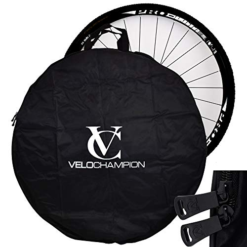 VeloChampion Easy Transport 700c Road Wheel & 26' Mountain Bike Wheel - Lightweight & Easy to Carry