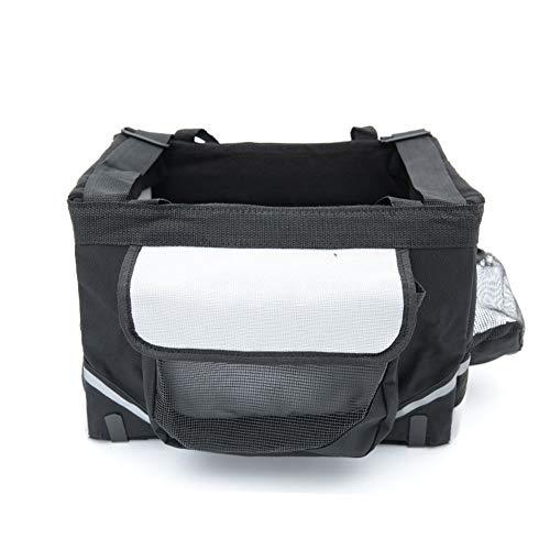 Jlxl Fietstas voor huisdieren, voor huisdieren, fietsendrager, voor katten, honden, bagagedragers, kleine afmetingen, reizen met veiligheid, Zwart