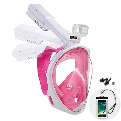 Dekugaa Full Face Snorkel Mask, Adult Snorkeling Mask with...