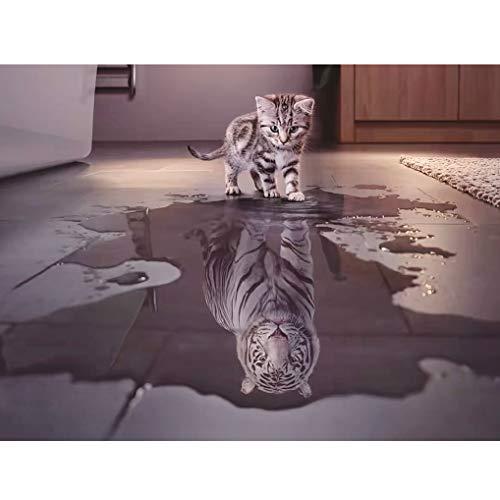 GuDoQi Puzzle da 1000 Pezzi Adulti Puzzle Gatto in Tigre per Bambini Adolescente